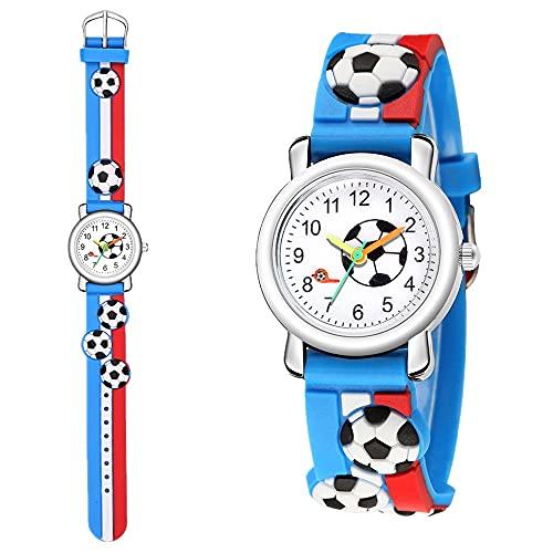 CXJC Black, Azul, Tarifa y Reloj de cuarzo de dibujos animados rojo en cuatro colores, de 4 a 13 años de edad, hombres y estudiantes de primaria y escuela secundaria, reloj de dibujos animados de patr