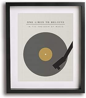 The Spirit Of Radio by Rush inspired song lyric art print gift idea modern music wall decor poster