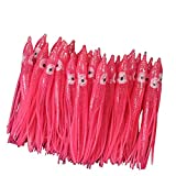 Croch Luminous Octopus Skirts Trolling Lures Fishing Tackle Soft Plastic Lures Squid Skirts(30PCS) …