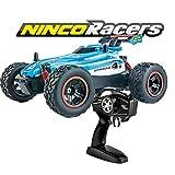 Ninco NincoRacers-Stream. Coche teledirigido con tracción a 2 ruedas. Aceleración progresiva. 2,4Ghz Color azul. Medidas: 21 cm x 15 cm x 8,5 cm. A...