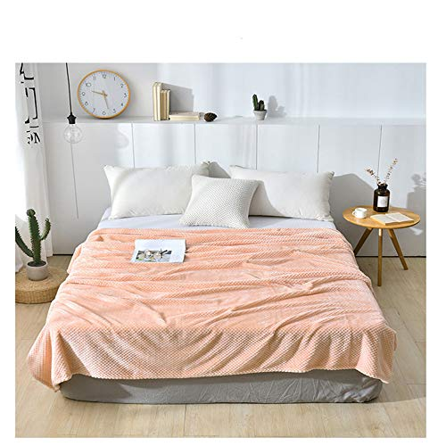NA MYBH Manta para el hogar Tapiz de Terciopelo Beibei Tapicería Que Cubre el sofá Sofá Cama Final de la Cama Manta de la Cama Banner Hotel Almohada Modelo Habitación Manta Naranja 180 * 200cm