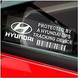 5 x Hyundai GPS Tracking Device Security WINDOW Stickers 87x30mm-i30,i10,i35,Getz,Santa,Accent,Amica-Car,Van Alarm Tracker