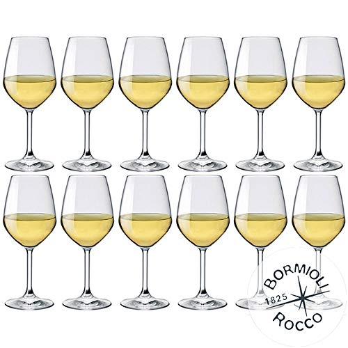 Bormioli Rocco - Set mit 12 Weißweingläsern, Modell Divino 44 - Fassungsvermögen: 44 cl.