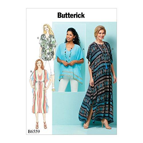 Butterick Patterns 6559ZZ Größen 2X Große Misses 'Top/Tunika und Schnitt, Tissue, mehrfarbig, 17x 0,5x 22cm