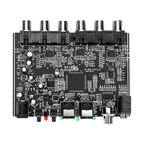 Huante - Descodificador de audio digital HiFi de 5.1 canales AC-3 PCM, digital óptico coaxial DTS RCA, sintonizador de cine en casa, audio estéreo