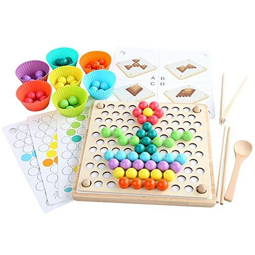 Yifuty Xiaoxiaole Konzentration Clip Beads Two-in-one-Eltern-Kind-Interactive Tischspiel Schach Logic Kinder Lern Denken Ausbildung Spielzeug