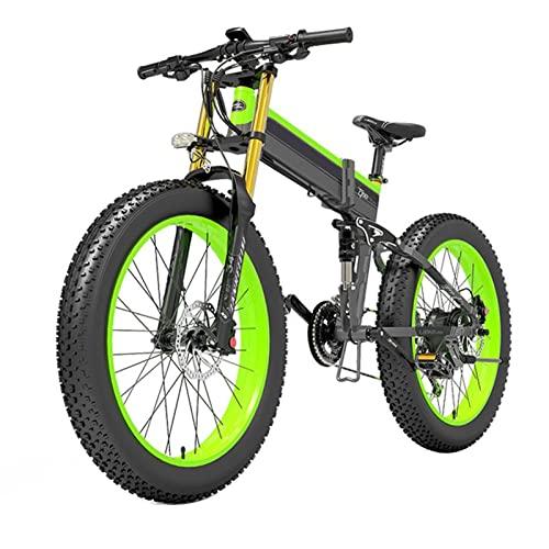HMEI Bicicleta eléctrica para Adultos 1000w 26 Pulgadas 4. 0 Fat Tire, 40 km/h Bicicleta eléctrica de montaña, con batería extraíble 48v14.5ah, Engranajes Profesionales de 27 velocidades