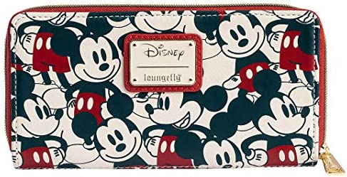 Loungefly Disney Mickey Minnie Mouse Wallet Zip Around Clutch Faux Leather product image