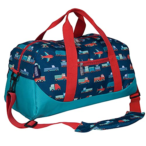 Wildkin Kids Overnighter Duffel Bags for Boys & Girls, Measures 18 x 9 x 9 Inches Duffel Bag for Kids, Carry-On Size & Ideal for School Practice or Overnight Travel, BPA-Free (Transportation)