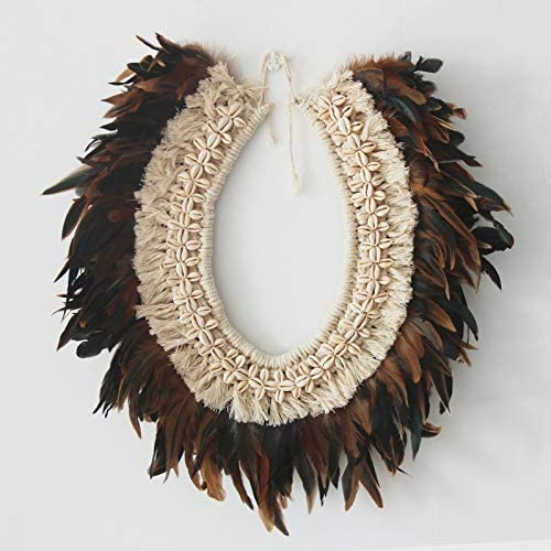 GAOZ Nordic Original Hand-Woven Cheap mail order sales Macrame Feather Shell Seasonal Wrap Introduction Tapes Wall