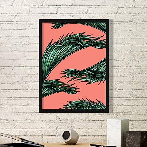 DIYthinker Bloem Plant Blad Roze Hemel Gelukkig Eenvoudige Afbeelding Frame Kunst Prints Schilderijen Thuis Muursticker Gift