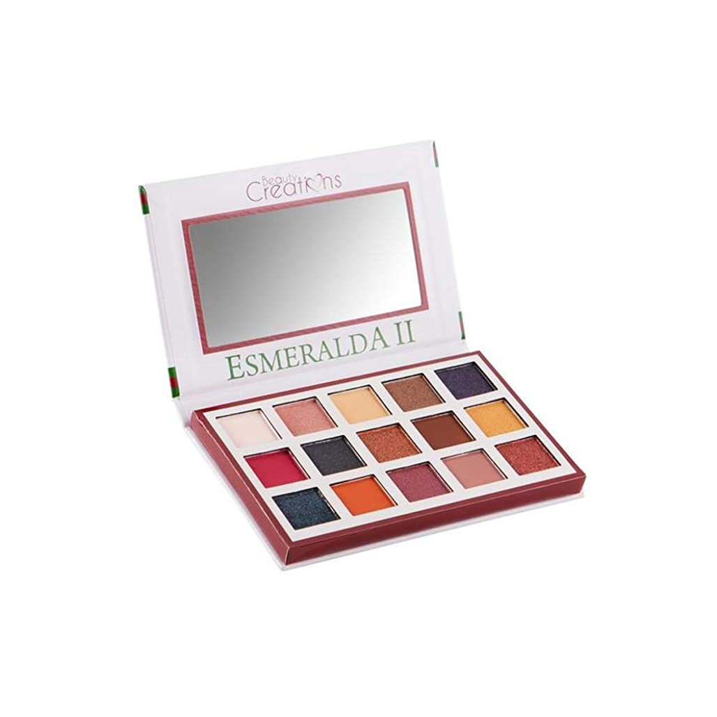 バングラデシュシャツ接地BEAUTY CREATIONS Esmeralda II 15 Color Eyeshadow Palette (並行輸入品)