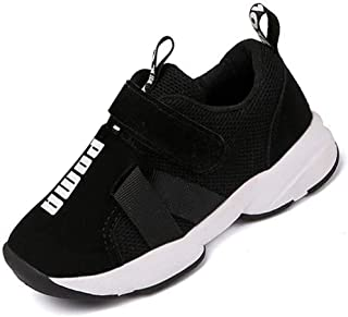 Daclay Children Casual Shoes Boy and Girl Cool Style Kids Mesh Breathable Soft Soled Running Sports Shoes White