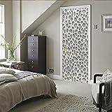 Pegatinas de Puerta Pegatinas de Papel Pintado PVC Chimenea Interior habitación Infantil