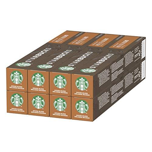 Starbucks House Blend By Nespresso Medium Roast Coffee capsules, 8er Pack (8 x 10 capsules)