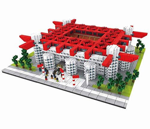Atomic Building Stadio Giuseppe Meazza - Stadio San Siro di Milano. Modello da assemblare con nanoblocchi. più di 3800 Pezzi