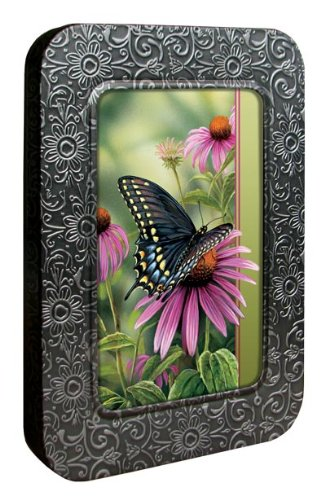 Tree-Free Greetings Noteables Notecards In Reusable Embossed Tin, 12 Card Assortment, Recycled, 4 x 6 Inches, A Moment's Rest, Multi Color (76022)