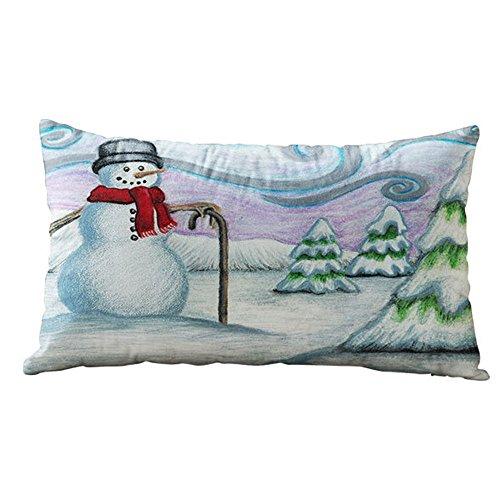 HEVÜY Weihnachtskissen Weihnachten Socken Weihnachtsglocke Eukalyptus Sofa Kissenbezug Auto Taille Kissen Home, Weihnachten