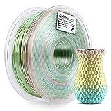 【Cambio de color rápido & excelente textura de seda】 : El cambio de color cada 5 metros le permite imprimir multicolor en un pequeño elemento impreso en 3D. El filamento Amolen Seda Rainbow Multicolor tiene una textura de seda asombrosa, un aspecto l...
