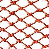 Guardería Infantil Red De Seguridad Balcón Interior Escaleras Cercas Red De Fotos Decoración De Paredes Red De Cercas Red De Partición Red Especial Hebilla Cruzada Cuerda Naranja ( Size : 1*2m )