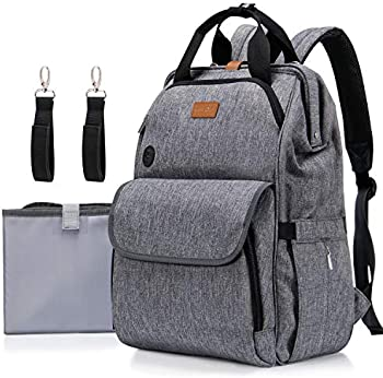 Lifewit Unisex Nappy Diaper Hospital Bag with Changing Pad