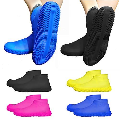 Lluvia Cubierta para Zapatos para Zapatos Impermeable De Látex Reutilizable De Silicona De Lluvia Antideslizantes De Caucho Resistente para Zapatos,Amarillo,M
