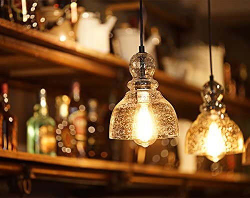 Clear glass pendant lights for kitchen _image2