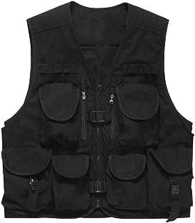 Zhengya Direct Men's Fishing Mesh Vest, Photography Work Multi-Pockets Vest Outdoors Hunting Travel Safari Vest Journalist's Jacket Big Size
