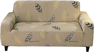 HOTNIU Printed Stretch Sofa Cover Elastic Polyester Spandex Couch Covers- Universal Fitted Sofa Slipcover for Couch Furniture Protector (3 seat, Pattern YM)