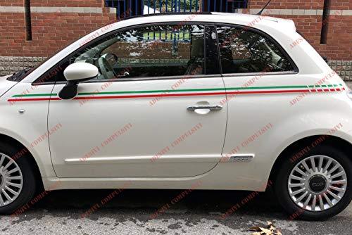 Tricolor Fiat 500, Italiaanse vlag, dubbelzijdig, 2 stuks