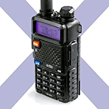 BTECH UV-5X3 5 Watt Tri-Band Radio : VHF, 1.25M, UHF, Amateur (Ham), Includes Dual Band Antenna, 220 Antenna, Earpiece, Charger, and More Two-Way Radio