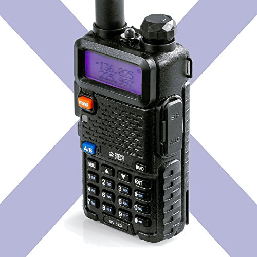 BTECH UV-5X3 5 Watt Tri-Band Radio VHF, 1.25M, UHF, Amateur (Ham), Includes Dual Band Antenna,...