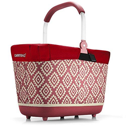 reisenthel - EXKLUSIVES ANGEBOT! carrybag 2 + GRATIS passendes cover ! Einkaufskorb Einkaufstasche (diamonds rouge)