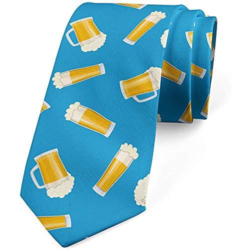 Corbata, Bebida Tazas Fiesta Diversión Patrón, Mar Azul Tierra Amarillo