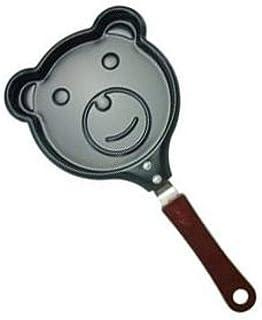 Sartén Desayuno Omelet Pan Cocina Mini Hogar Sartén Antiadherente Niños Lindos Molde Creativo-Osito
