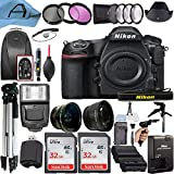Nikon D850 DSLR Camera Body 45.7MP CMOS Sensor with 2 Pack SanDisk 32GB Memory Card, Backpack, Full Size Tripod & A-Cell Accessory Bundle (Black)