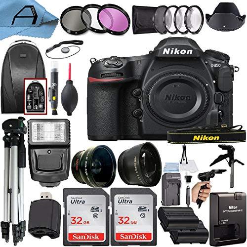 Nikon D850 DSLR Camera Body 45.7MP CMOS Sensor...