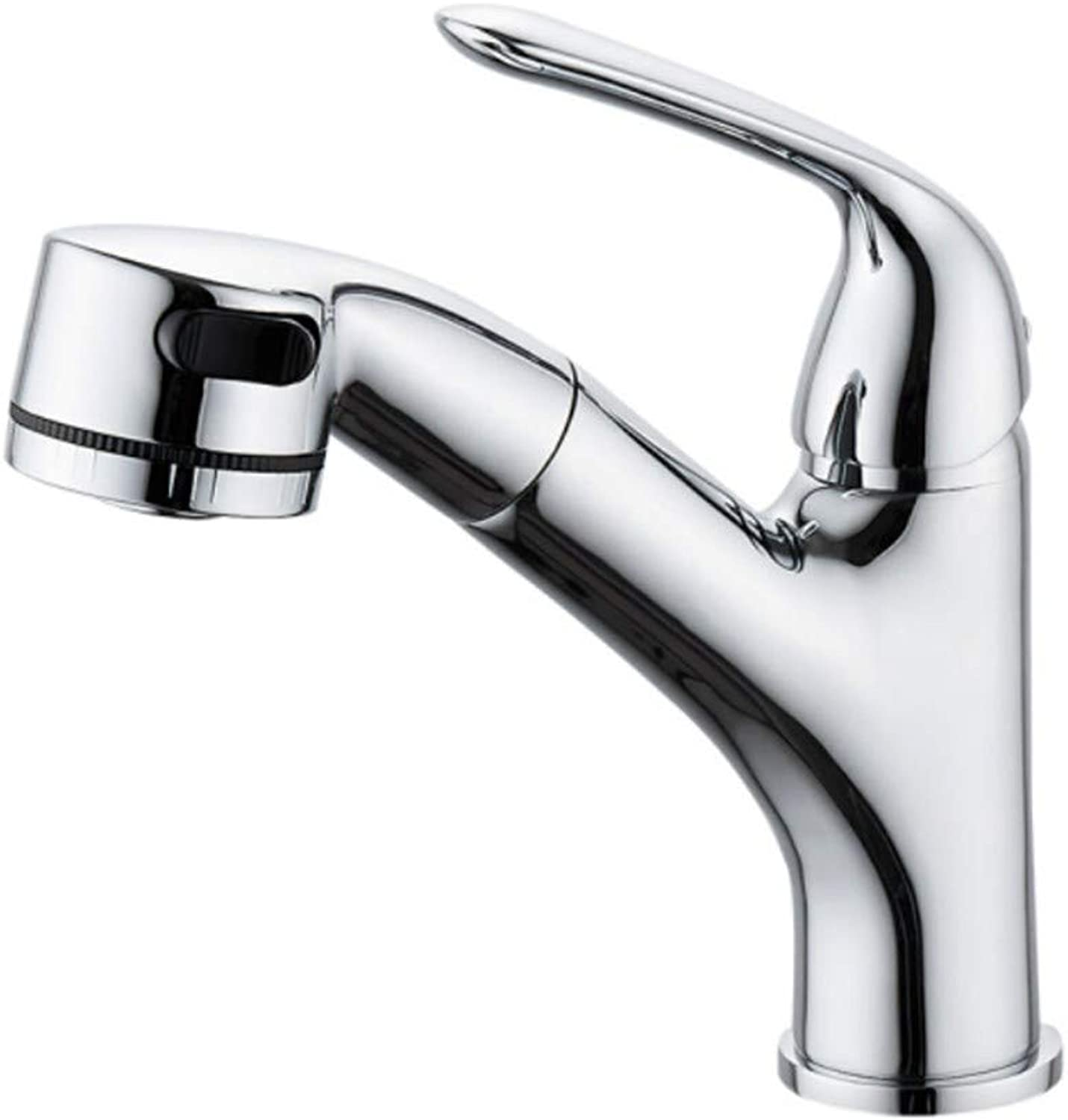 Kitchen Sink Taps Bathroom Taps Multifunctional Draw-Type Washbasin Precision Copper Cold and Hot Water Faucet