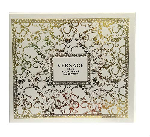 Versace Versace Eros Pour Femme By Versace for Women - 3 Pc Gift Set 3.4oz Edp Spray, 10ml Edp Rollerball, 5.0oz Luxury Body Lotion, 3count