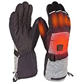 REIFUT Heated Gloves for Men&Women, Rechargeable Electric Heated Gloves for Skiing, Heated Mittens for Raynaud's, Arthritis