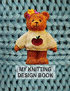 My Knitting Design Book. Blank Knitting Graph Paper Notebook.