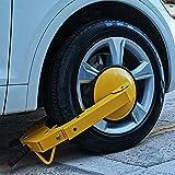 Wheel Lock Clamp Adjustable Tire Boot Lock Anti-Theft Lock Clamp Boot Tire Claw for Parking Car Truck RV Boat Trailer UTV, ATV Parking Maximum Width of 11.8 Inch