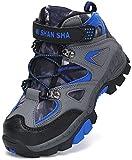 Mishansha Botas de Trekking Niña Forrado Botas de Senderismo Niña Botas Al Aire Libre Antideslizante Zapatillas Montaña Brandeis Azul Gr.34