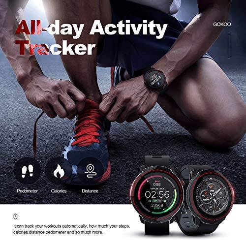 GOKOO Smartwatch Hombres Mujeres Reloj Inteligente Deportivo 9 Modos Deportivos IP67 Impermeable Compatible con Sistemas iOS y Android miniatura