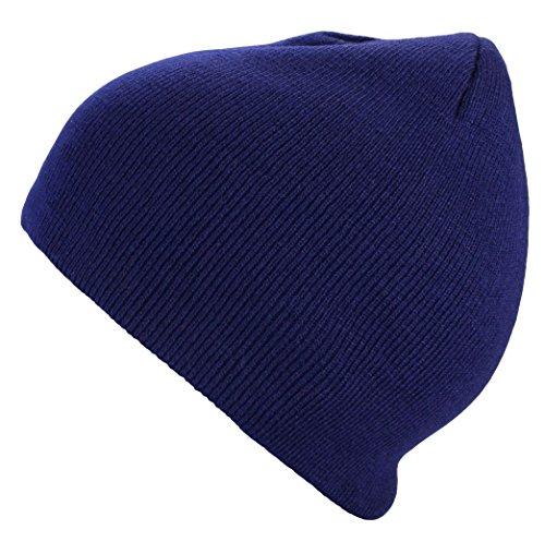 Bonnet homme d'hiver basic en bleu marin Urban Style