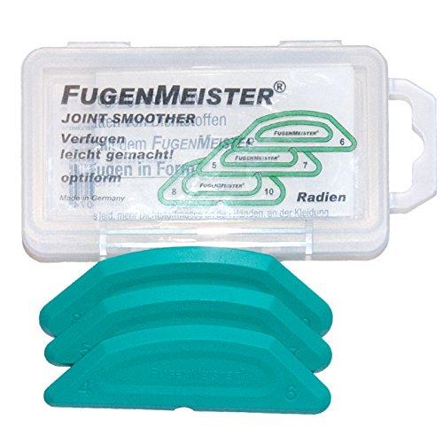 Fugengummi, Fugenglätter, Fugenabzieher OPTIFORM RADIEN 4/6 5/7 8/10 Fugenmeister Schablonensatz, 3- teilig