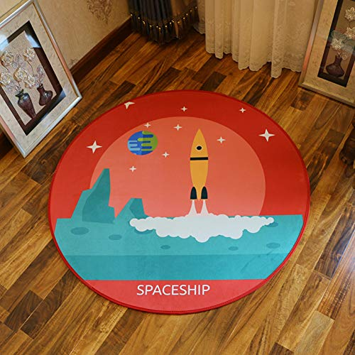 ZHAJIAN Carpet Winlife Universal Style Carpets Cartoon Kids Rugs Computer Chair Rugs Round Area Mats for Bedroom Anti- Skid Carpets Galaxy Rug