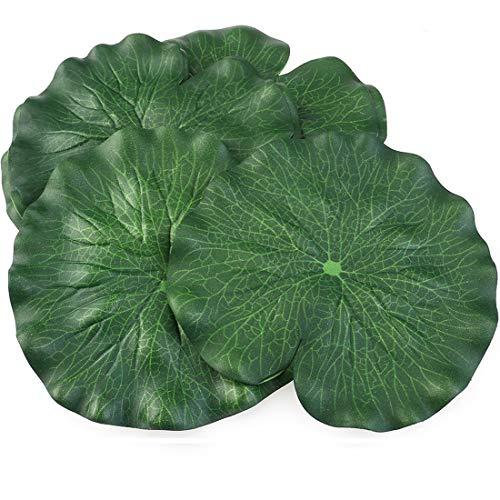 Vpsan Künstlichen Floating Foam Lotus Blätter Laub Teich Decor 6 Stück (30 cm + 18 cm + 15 cm, 6 Stück) (10pcs 18cm Lotus Blätter)