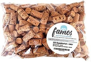 200 bouchons de liège pour l'artisanat et les arts ou comme décoration - Bouchons de bouteilles de 24 x 45mm