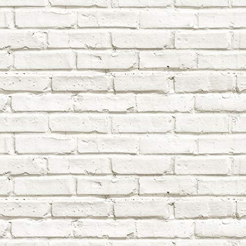 murando Tapete selbstklebend 10m Wandtattoo dekorative Möbelfolie Dekorfolie Fotofolie Panel Wandaufkleber Wandposter Wandsticker - Ziegel weiß Ziegelwand Ziegelmauer f-B-0229-an-a